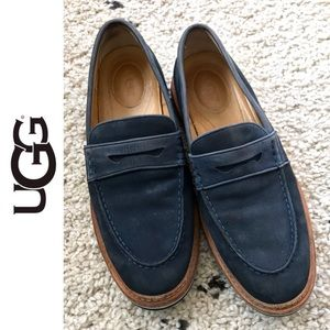 Ugg Men's Navy Whitfield Penny Loafers